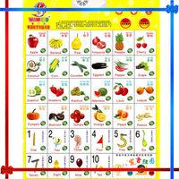 Fruit wall chart for children ShenZhen