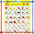 Falando de frutas pendurar gráfico com customers' som de aprendizagem para as crianças