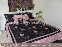 indian designer quilted king size cotton printed bedding set