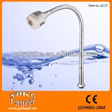 single handle chrome water faucet adaptor