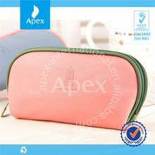 Pink cosmetic bag with mirror