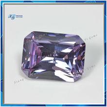 2014 Hot sale Amethyst princess cut 15x20mm Rectangle wholesale synthetic diamond India