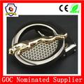 عدد-- واحد-- بيع مشبك معدني لحزام معدني/ جاكوار جولة مطلية بالذهب مشبك معدني لحزام رجالي( سمو-- مشبك-- 199)