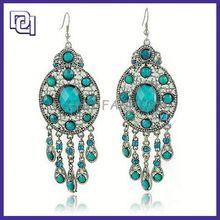 alloy dangle earrings ,alloy flower earring, alloy pendant earrings