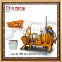 mobile asphalt mixing plant cold & hot twin drum mixer 30t/h