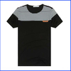 2014 cheap black brand fashion dry fit t-shirt wholesale collar pocket men t-shirt
