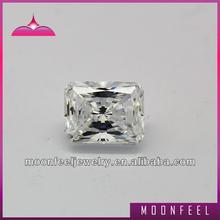 White crystal rectangle cubic zircon diamond