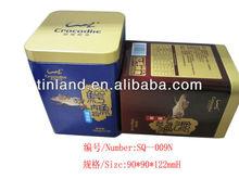 High quality square luxury metal tin box,tin can money box