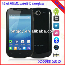 4 inch Ips Screen Android 4.2 Mobile Phone Doogee DG100 MTK6572 Dual Core 1.3GHz 4GB Rom Dual SIM GPS