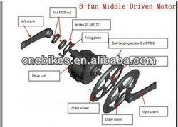 500w electric bicycle conversion kit mid drive e bike kit mid crank motor, mid drive motor