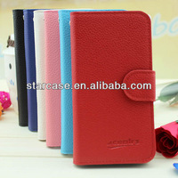 wallet leather protective case for huawei valiant y301 h881c