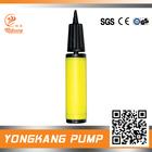 Plastic and 285mm length yellow mini basketball air inflator pump
