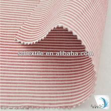 2014 new design cottn red white striped fabric