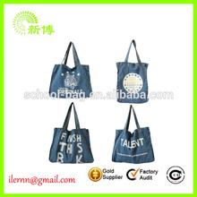 2014 new arrival denim jeans tote bag manufacture wholesale