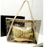 Wholesale Fashion Transparent Beach Bag Jelly Crystal Shoulder Handbags