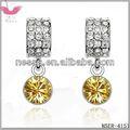 E78946 elementos swarovski crystal brincos- masculino e feminino símbolo( dourado)