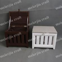 wholesale furniture wooden storage short stool ottoman