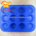 mini forma redonda de silicone molde do bolo