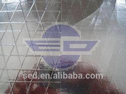 Aluminum refletive film aluminum foil laminated roll film water resistant thermal lining material