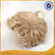 Blonde Indian men hair toupee wig factory Qingdao China