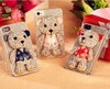 Teddy Bear Diamond Crystal Bling Phone Case For Iphone6,3D cartoon phone case,cell phone crystal case