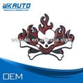 aleación fresco de fuego de metal logotipo del cráneo de placas de coches emblemas de automóviles