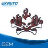 cool alloy metal fire skull logo car badges auto emblems