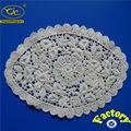Fábrica retangular branca crochet lace doilies/toalha de mesa
