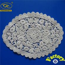 Fábrica branco retangular rendas de croché doilies / toalha de mesa