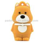 cute bear shape sylicone flash memory USB memory USB key birthday gifts