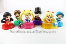 """6pcs Set Pretty Soldier Sailor Moon Mars Jupiter Venus Mercury 2"""" Figure Loose"""