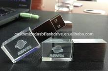 hot wholesale oem usb flash memory custom 3D laser engraving logo / usb key with led light