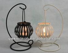 European vintage pumpkin wedding candle holder wedding decoration iron craft