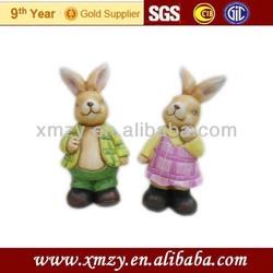 2014 new products wholesale ceramic garden rabbit decoration
