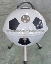 Smokeless Football BBQ Grill with 26cm Charcoal Pan