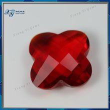 2014 Fashion Lily Flower Shape Double Checkerboard Decorative Glass Gems Diamond