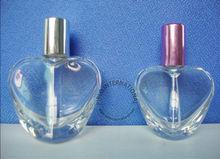 30ml 50ml heart shape empty perfume bottle with aluminium sprayer