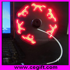 mini usb fan with customized led message