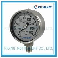 All stainless steel high pressure gauge