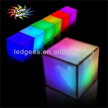 beautiful led glowing cube/outdoor furniture