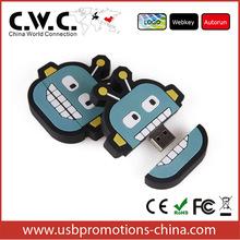Wholesale alibaba cartoon design USB flash memory customized USB flash drive 1GB/2GB/4GB/8GB/16GB32/GB bulk buy from china