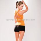 95% cotton 5% spandex custom orange black ladies formal female yoga wear