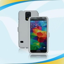 FOR Samsung Galaxy S5 i9600 View Flip PU Leather Case Cover Folio Flip Leather White