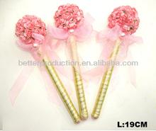 romantic signature pen with flower for wedding celebration favor