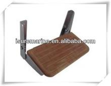 marine hardware/marine fittings/Fold-up footrest-aluminum and teak
