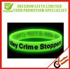 Promotional Custom Glow In Dark Silicone Wristbands