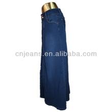 GZY Hot! Wholesale fashion denim women muslim long skirt