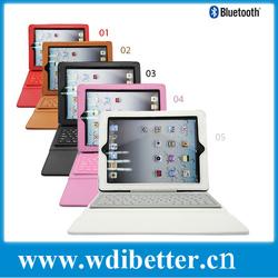 Leather Folio Keyboard Case for Apple Ipad 2 3 4 with Bluetooth Keyboard