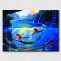 Parede decoração de arte impressão fotos reais do sereias