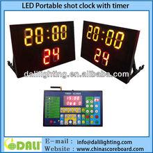 Portable digital basketball shot clock and scoreboard